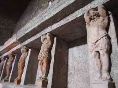 Detalle de los baños en Pompeya