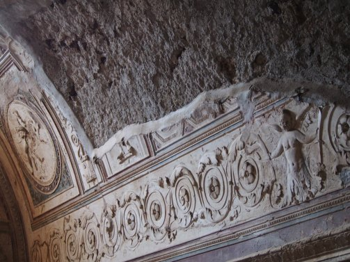 Detalle de los baños de Pompeya
