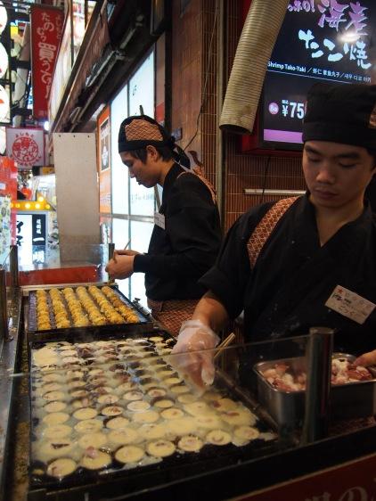 Takoyaki en Dotonbori