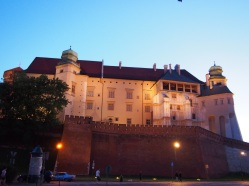 Castillo de Wawel desde abajo