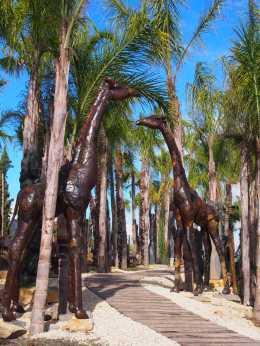 Jardim de arte de Esculturas Africanas
